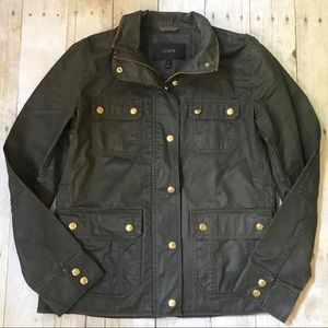 J.Crew Downtown Waxed Cotton Field Jacket Small